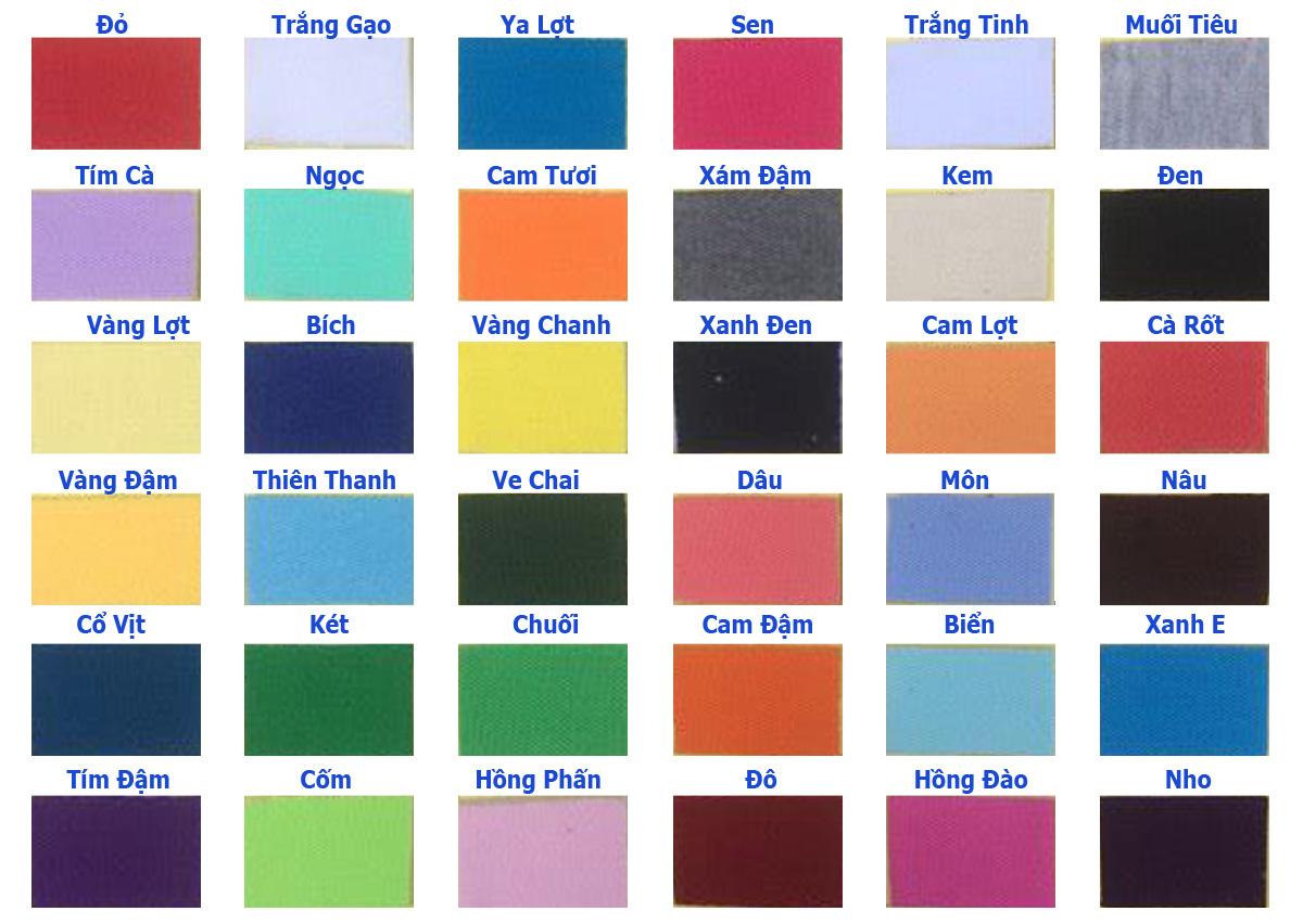Màu của vải Kate Silk