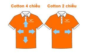 So sánh giữa vải cotton 2 chiều và cotton 4 chiều
