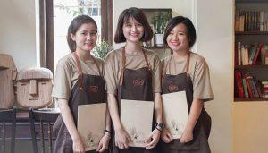 Đồng phục nhân viên bán tại quán cafe