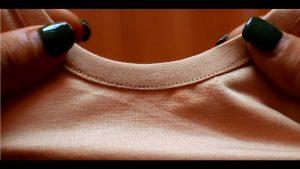 May viền cổ áo thun