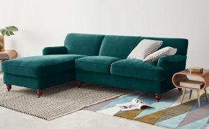 Ghế sofa chất liệu vải nhung