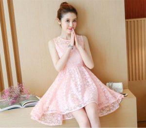 Vải ren may váy