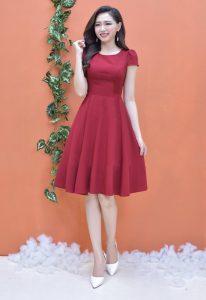 Váy may từ chất liệu vải cotton