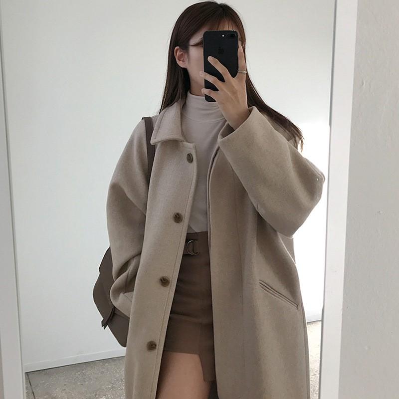 mẫu áo khoác oversize