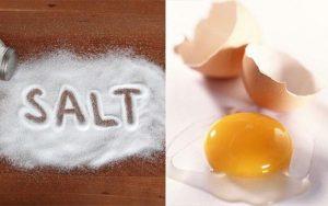 tẩy vết cà phê bằng muối và trứng