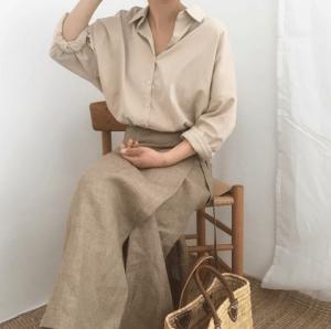 Vải đũi thô may váy